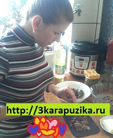 в процессе готовки полезного салата