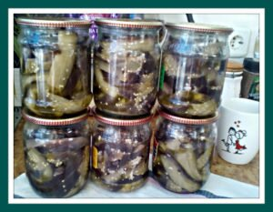 рецепт с фото баклажанов на зиму под грибы